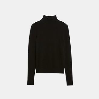 Theory Feather Cashmere Basic Turtleneck Sweater