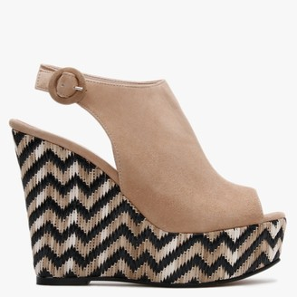 Daniel Marees Brown Suede Woven Wedge Sandals