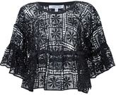 Elizabeth and James ruffled sleeve embroidered top - women - Polyester - M