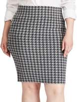 Chaps Plus Size Houndstooth Pencil Skirt