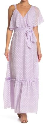 Diane von Furstenberg Ella Dot Print Maxi Dress