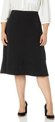 Kasper Women's Plus Size Stretch Flare Skirt
