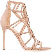 Sergio Rossi laser cut sandals