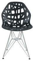 Bronx Mayville Molded Dining Chair Ivy Color: Black