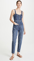 Rebecca Taylor Sleeveless Dry Indigo Jumpsuit
