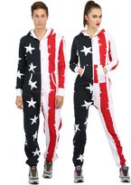 One Piece Cotton Blend Stars & Stripes Jumpsuit