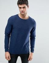 Tokyo Laundry Lightweight Cotton Slub Crew Neck Sweater