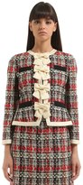 Gucci Light Tweed Jacket With Bows