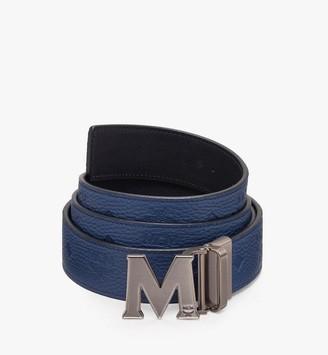 """MCM Claus Antique M Reversible Belt 1.5"""" in Monogram Leather"""
