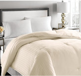 Blue Ridge 500-Thread Count Damask Stripe Full/Queen White Down Comforter