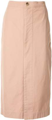Bassike zip front canvas skirt