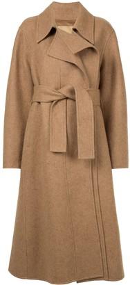 System Belted Long Coat