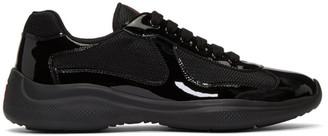 Prada Black Bike Sneakers