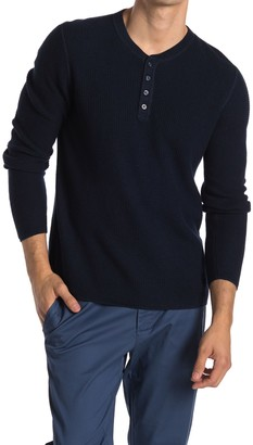 Original Penguin Waffle Knit Long Sleeve Henley Shirt
