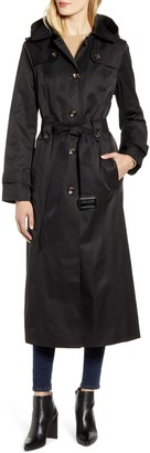 London Fog Long Hooded Trench Coat