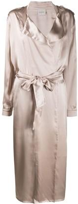 Le Kasha Tie-Front Duster Coat
