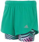 adidas Bright Green Marathon Mesh Shorts - Girls
