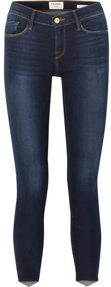 Frame Le Skinny De Jeanne Scoop Mid-rise Jeans
