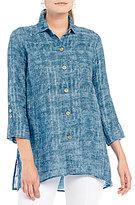 Ali Miles Button Front Linen Tunic