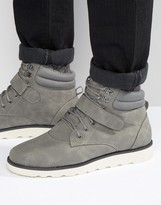 Brave Soul Lace Up Boots With Sherpa Lining Grey