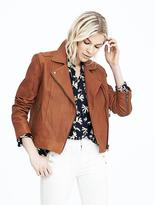 Banana Republic Washed Leather Moto Jacket