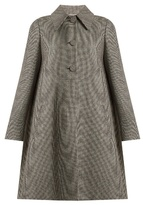Rochas Hound's-tooth checked wool-blend coat