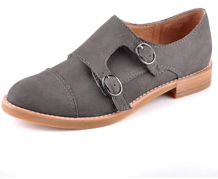 All Black Monk Buck Shoe