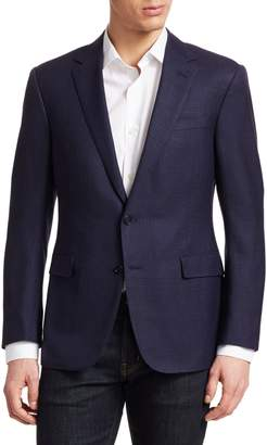 Ralph Lauren Purple Label Douglas Two-Button Jacquard Wool, Linen & Silk Jacket