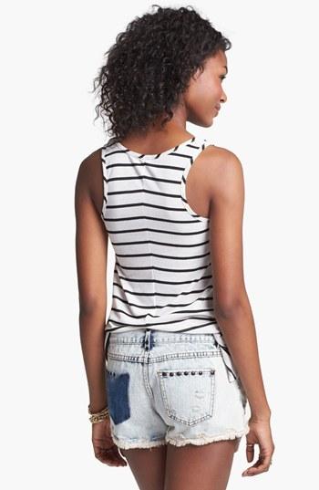 Blu Pepper Studded Acid Wash Shorts (Juniors) (Online Only)