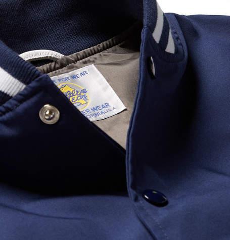 GoldenBear Golden Bear - Leather-Panelled Poplin Bomber Jacket