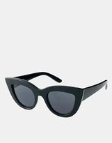 Asos Flat Top Cat Eye Sunglasses - Black
