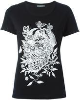 Alexander McQueen butterfly and floral skull T-shirt