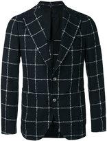 Tagliatore large check blazer - men - Linen/Flax/Polyamide/Cupro - 48