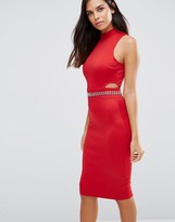 AX Paris Midi Dress With Embellished Waist