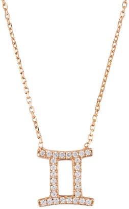 Latelita Zodiac Star Sign Pendant Necklace Rose Gold Gemini