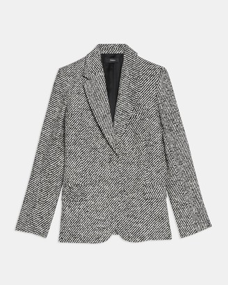 Theory Fitted Blazer in Boucle Tweed