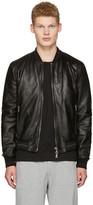 Dolce & Gabbana Black Washed Leather Bomber Jacket