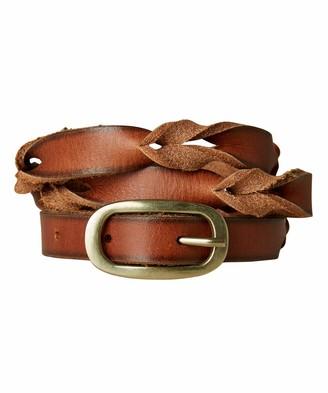 Joe Browns Womens Slim Braided Leather Belt Brown M