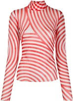 Henrik Vibskov striped roll neck top