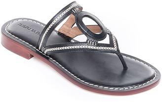 Bernardo Tania Cutout Leather Thong Sandals