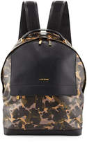 a. testoni a.testoni Camouflage Leather Backpack, Camo/Black