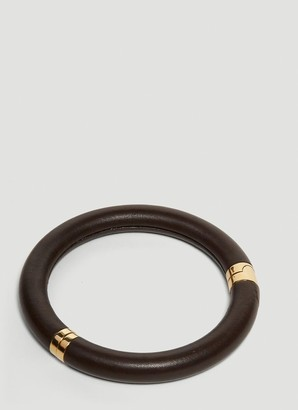 Bottega Veneta Leather Choker Necklace