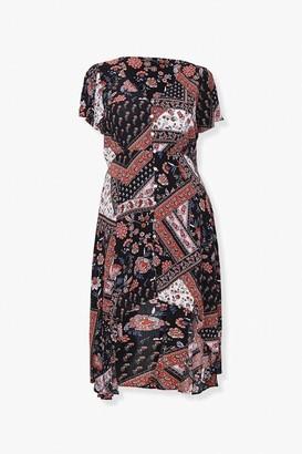 Forever 21 Plus Size Floral Button-Front Dress
