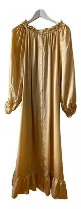 Sleeper Gold Silk Dresses