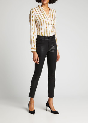 L'Agence Holly Long-Sleeve Button-Down Blouse
