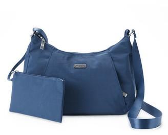 Baggallini Women's Slim Hobo Crossbody Bag with RFID Blocking Pouch