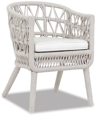 One Kings Lane Dana Dining Chair - Flax - frame, flax; upholstery, linen canvas