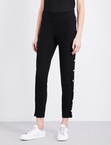 Maje Prune cropped crepe trousers