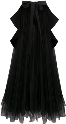 Loulou Mesh Trail Gown