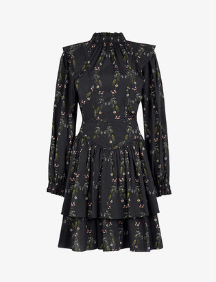 AllSaints Aislyn Varanasi floral-print cotton dress